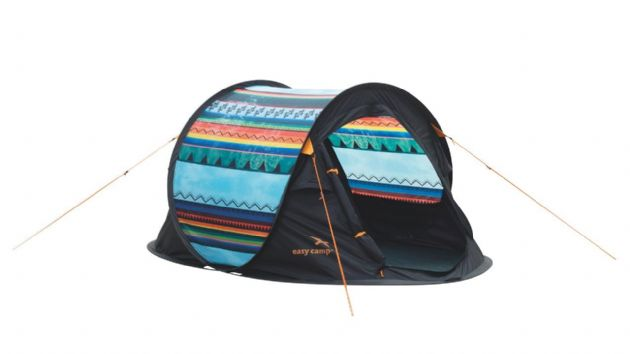 Easy Camp Antic Tribal Colour Camping Tent, Festival Camping Tent, Hiking Backpacking Tent- Grasshopper Leisure